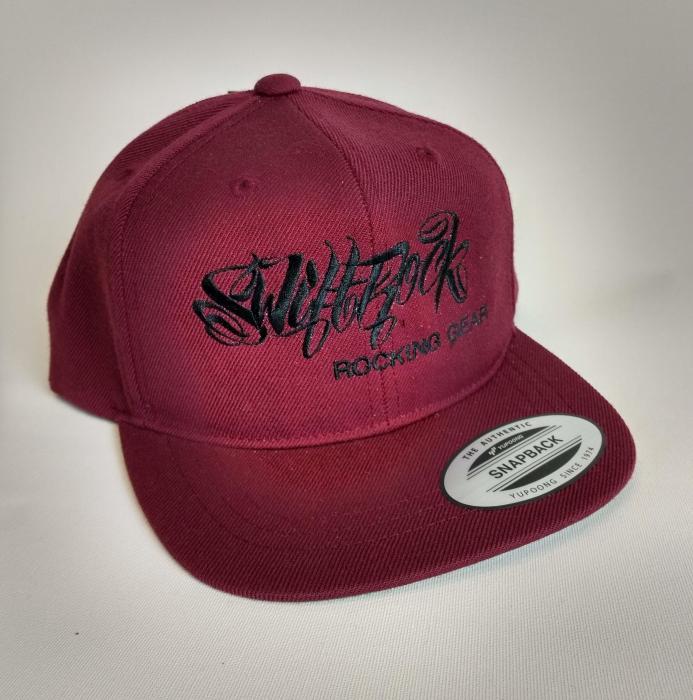 Rocking Gear Snapback Logo Cap Weinrot / Maroon Kids Size