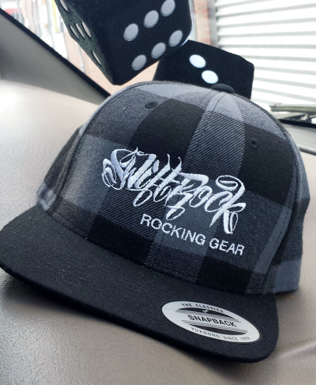 79a3537b655 Swift Rock Shop - Official Store - Rocking Gear Checked Snapback Logo Cap