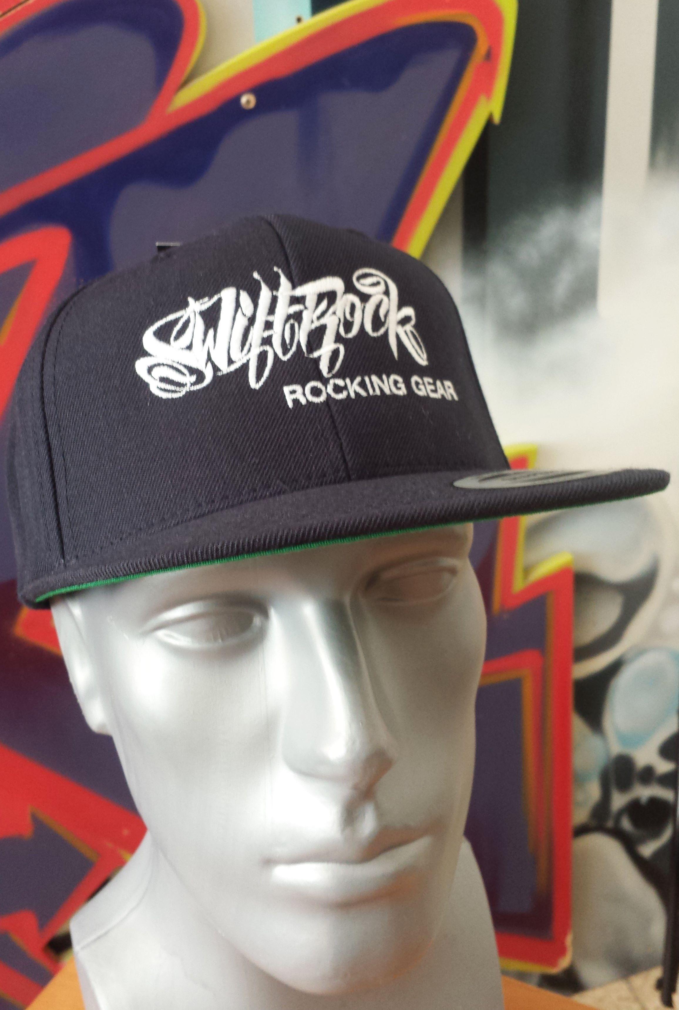 733686736b7 Swift Rock Shop - Official Store - Rocking Gear Snapback Logo Cap Navy