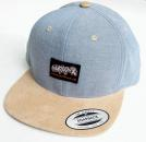 Swift Rock Two Tone Snapback Label Cap Baby Blue - Beige